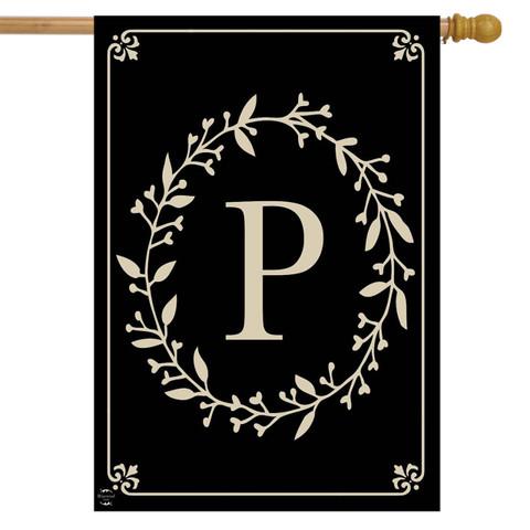 Briarwood Lane Classic Monogram Letter P Double-Sided House Flag