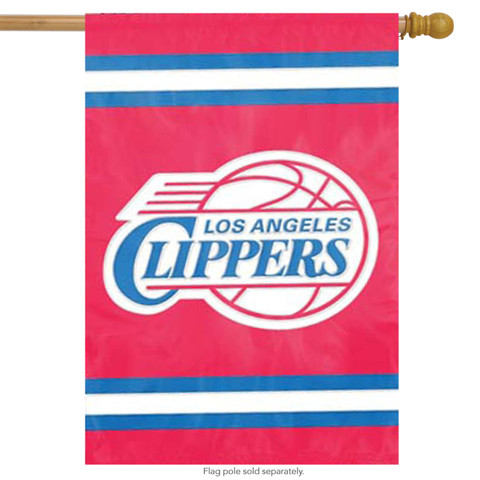 Los Angeles Clippers Applique House Flag