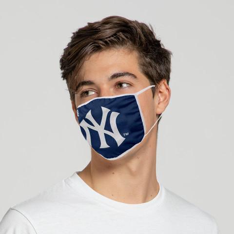 New York Yankees Solid Big Logo Face Mask