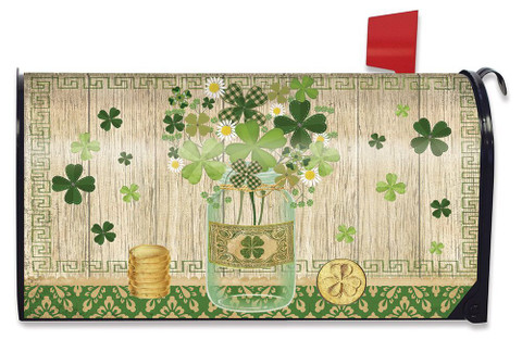 Lucky Clovers St. Patrick's Day Mailbox Cover