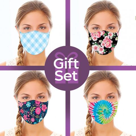 Reusable Cloth Face Mask Gift Set (4-piece Collection)