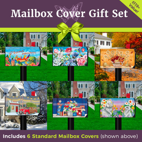 The Ultimate Standard Size Mailbox Cover Gift Set (6 Designs)