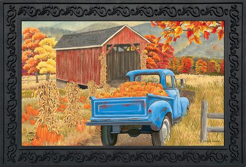 Autumn Bridge Truck Doormat