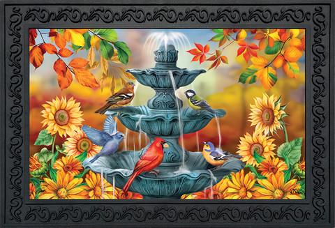Bath Time Birds Autumn Doormat