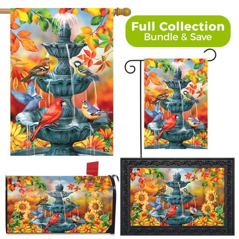 Bath Time Birds Autumn Design Collection