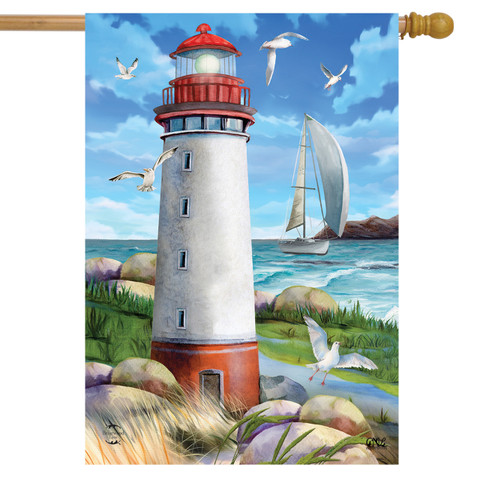 Coastal Lighthouse Nautical House Flag