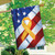 Remember Our Troops Patriotic House Flag