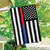 Thin Blue & Red Line Embroidered House Flag