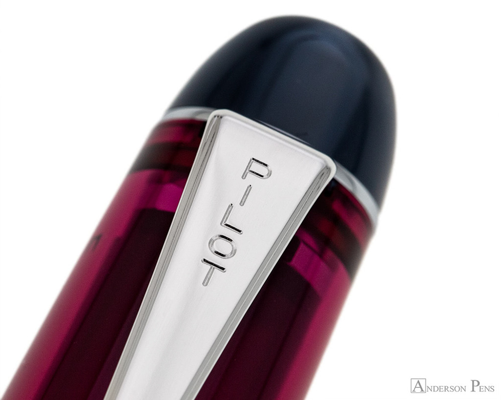 Pilot Custom 74 Fountain Pen - Merlot - Clip Imprint