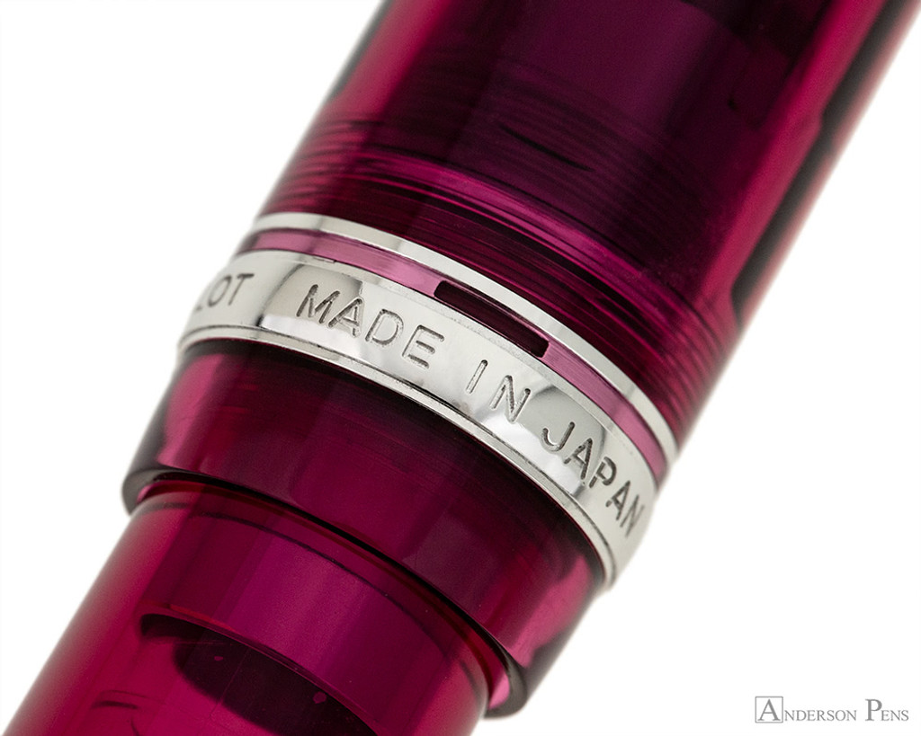 Pilot Custom 74 Fountain Pen - Merlot - Cap Band