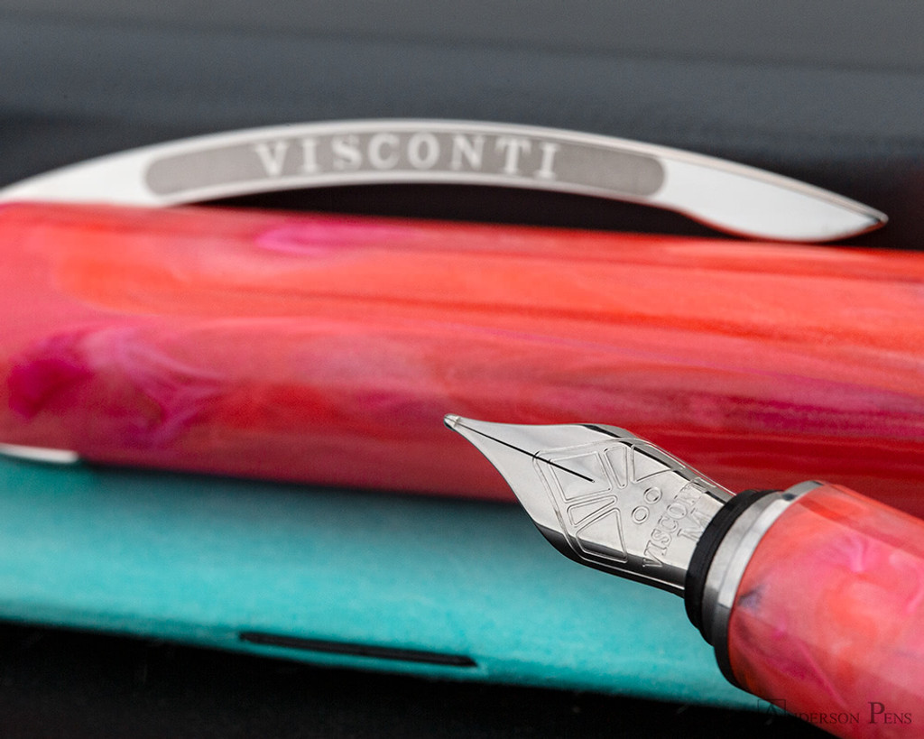 Visconti Breeze Fountain Pen - Cherry  on Notebook Nib