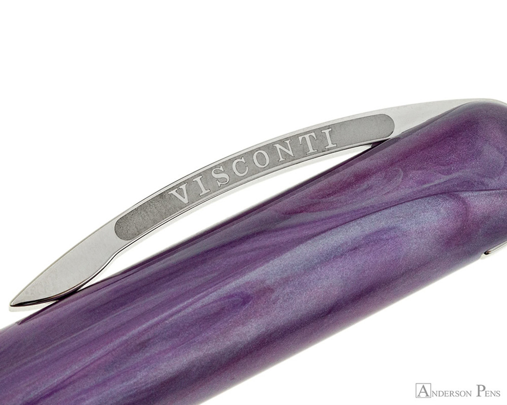 Visconti Breeze Fountain Pen - Plum Clip
