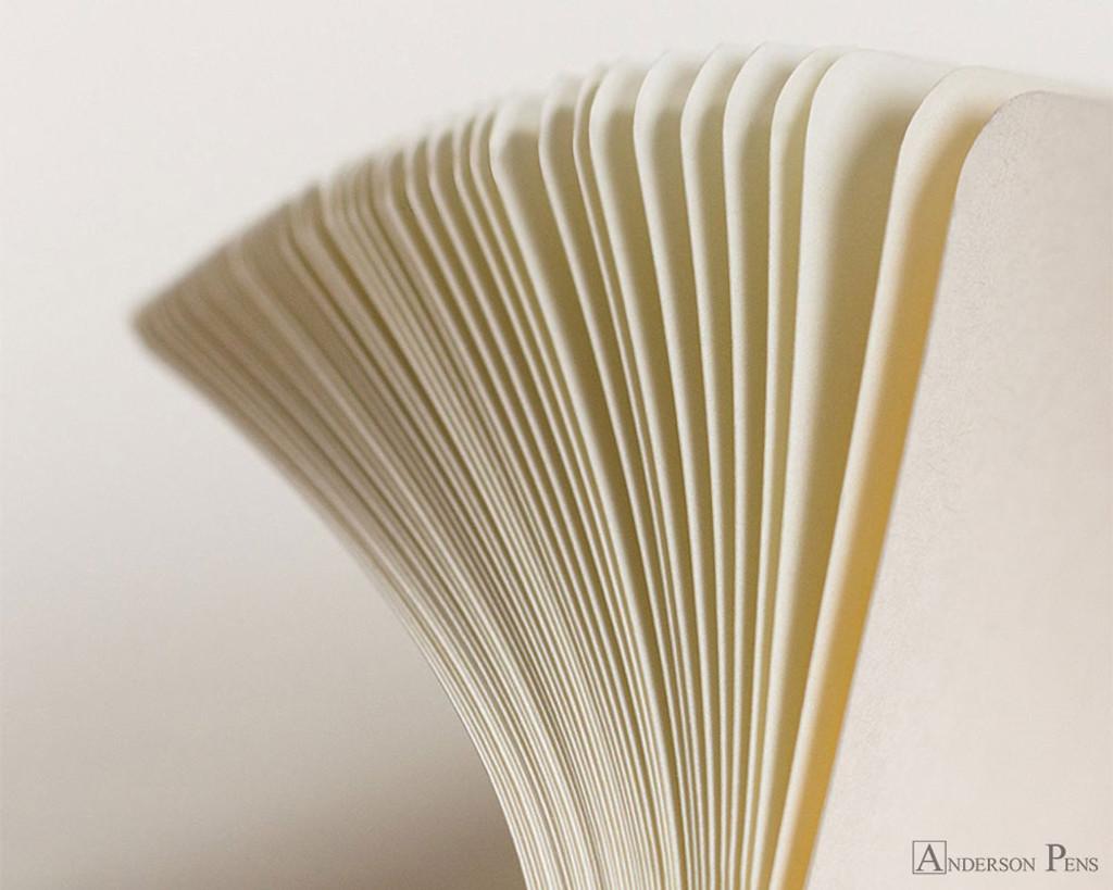 Leuchtturm1917 Notebook - A5, Lined - Pacific Green sheets detail