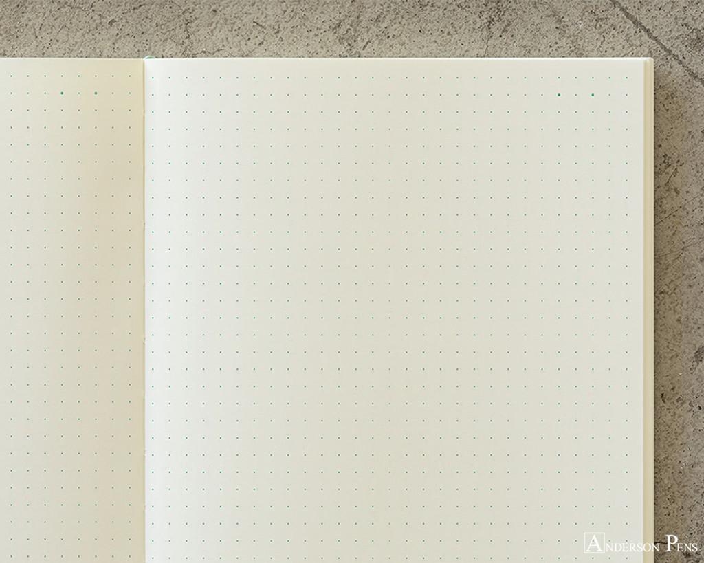 Midori MD Notebook A5 - Dot Grid - Page Closeup