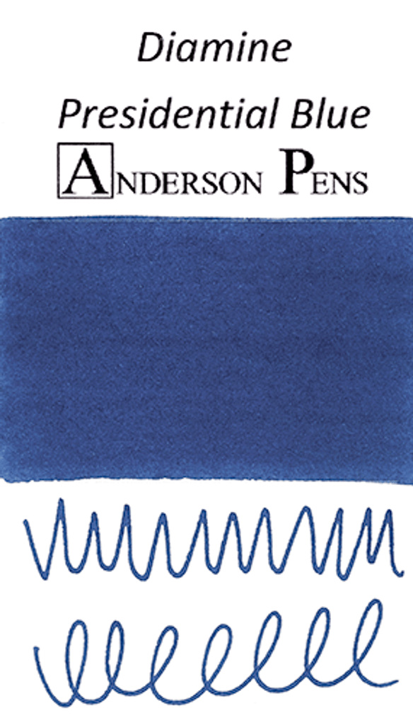 Diamine Presidential Blue Ink Color Swab