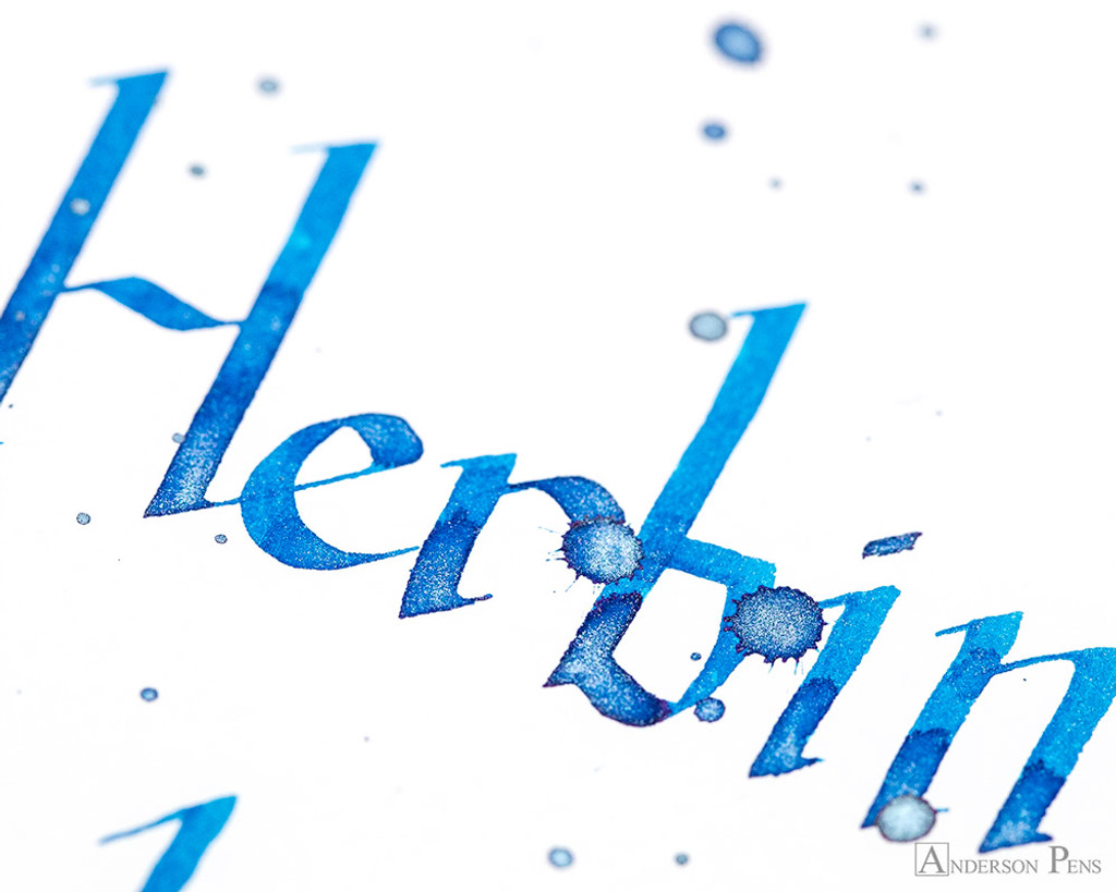 J. Herbin 1798 Anniversary Kyanite du Nepal Ink Sample (3ml Vial) - Closeup Lettering