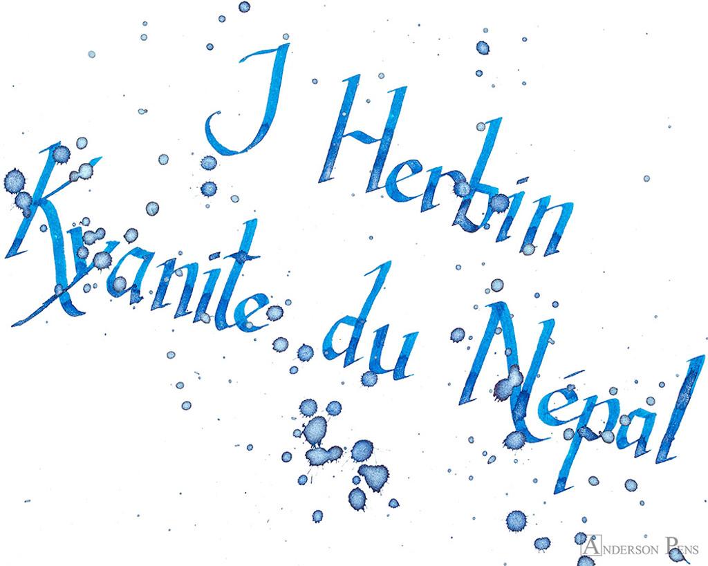 J. Herbin 1798 Anniversary Kyanite du Nepal Ink Sample (3ml Vial) - Closeup