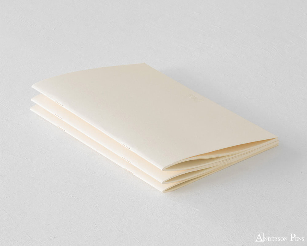 MD Notebook Light A5 Ruled Lines 3 Pack English Caption - Binding