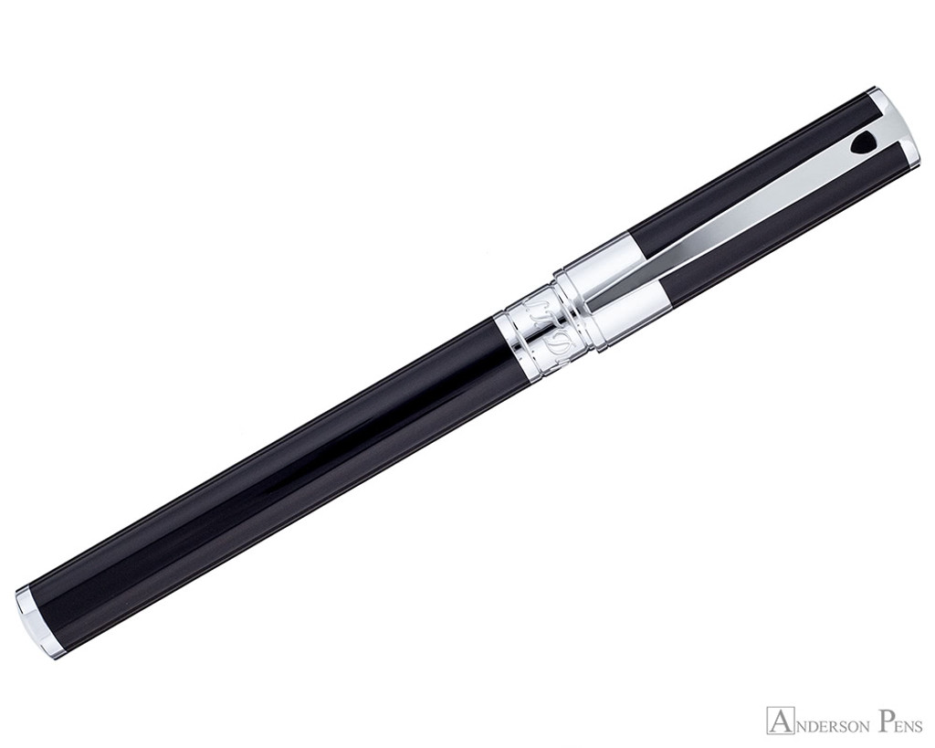 S.T. Dupont D-Initial Black and Chrome Rollerball