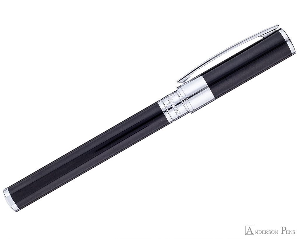 S.T. Dupont D-Initial Black and Chrome Rollerball - Profile