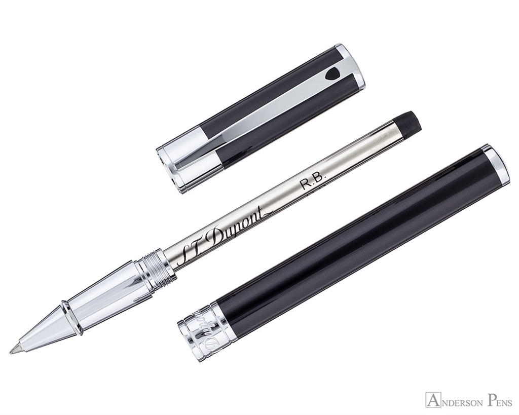 S.T. Dupont D-Initial Black and Chrome Rollerball - Parted Out
