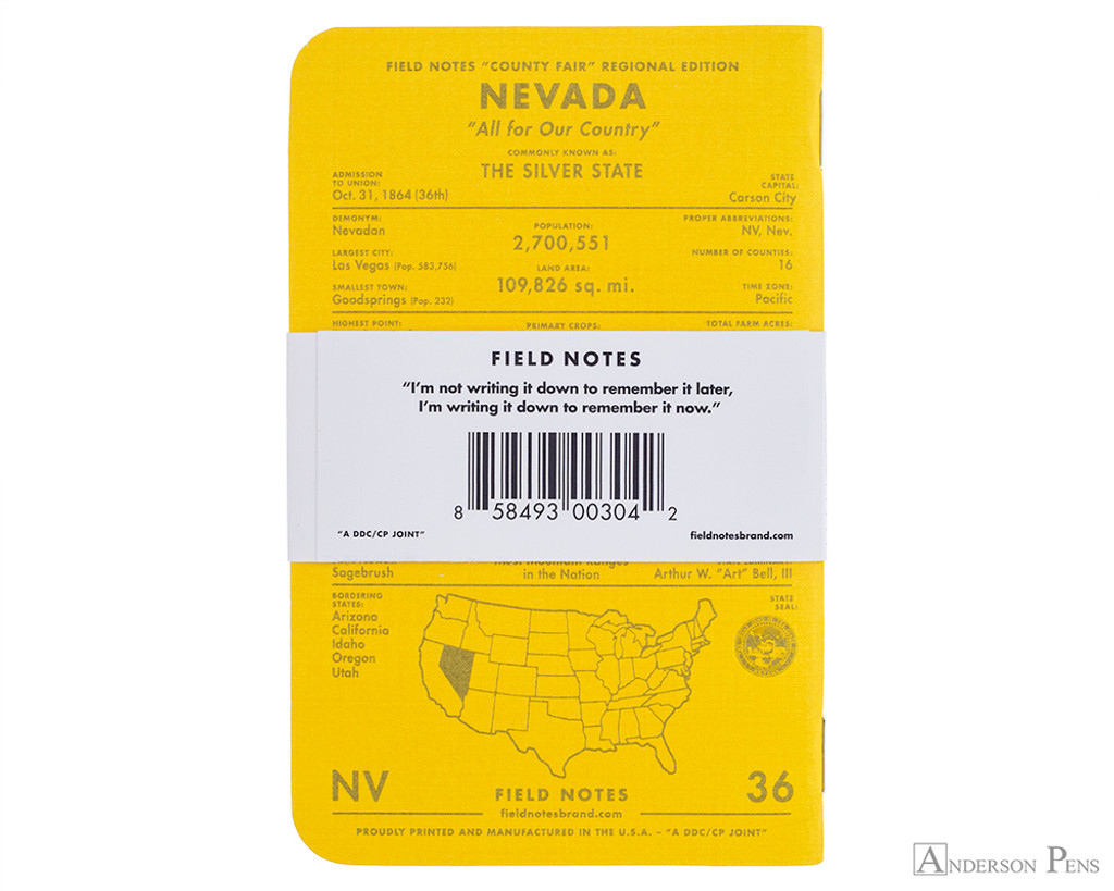 Field Notes Notebooks - County Fair, Nevada (3 Pack)