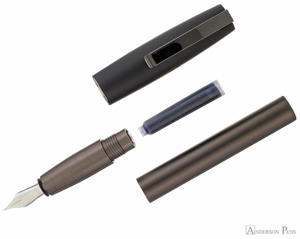 Faber-Castell Loom Gunmetal Matte Fountain Pen - Parted Out