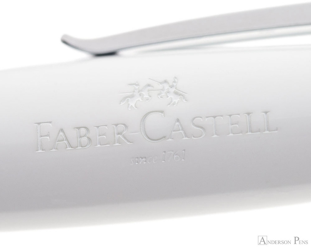 Faber-Castell Loom Rollerball - Piano White - Imprint