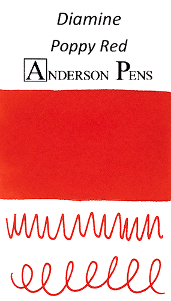 Diamine Poppy Red Ink Sample (3ml Vial)