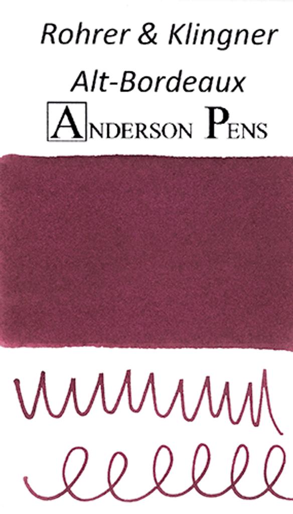 Rohrer & Klingner Alt-Bordeaux Ink Color Swab