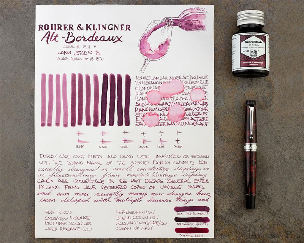 Rohrer & Klingner Alt-Bordeaux Ink (50ml Bottle) - thINK Thursday