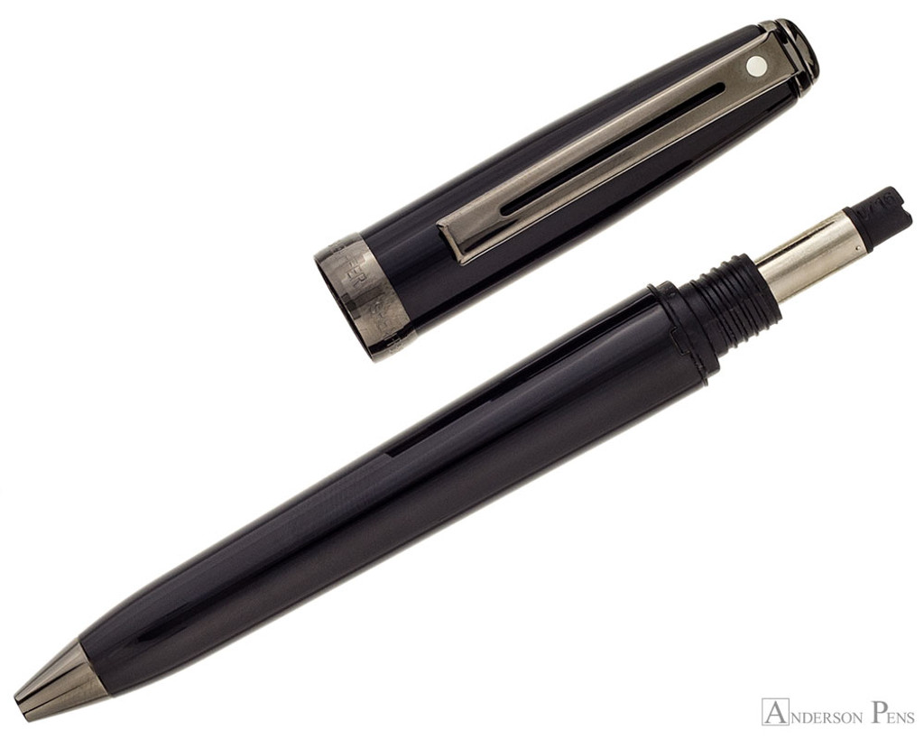 Sheaffer Prelude Ballpoint - Gloss Black Lacquer with Gunmetal Trim - Open