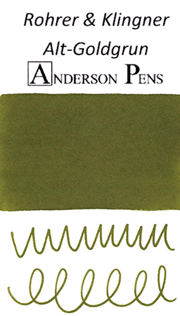 Rohrer & Klingner Alt-Goldgrun Ink Color Swab