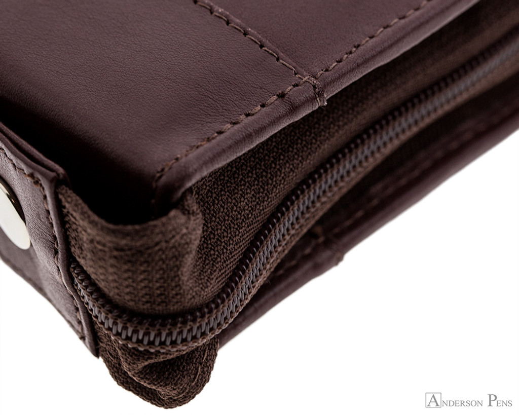 Girologio 24 Pen Case - Brown Leather