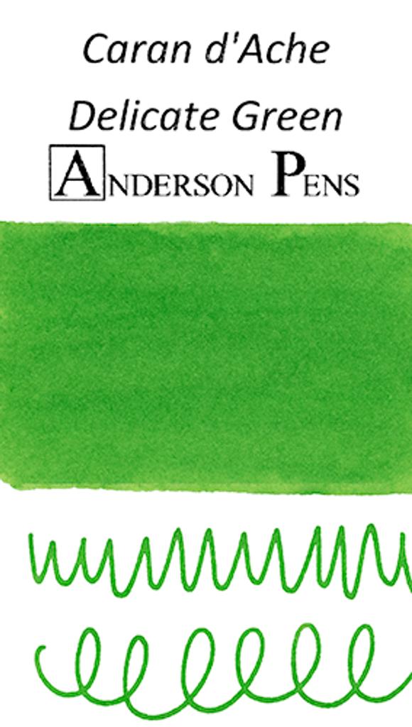 Caran d'Ache Delicate Green Ink Sample color swab