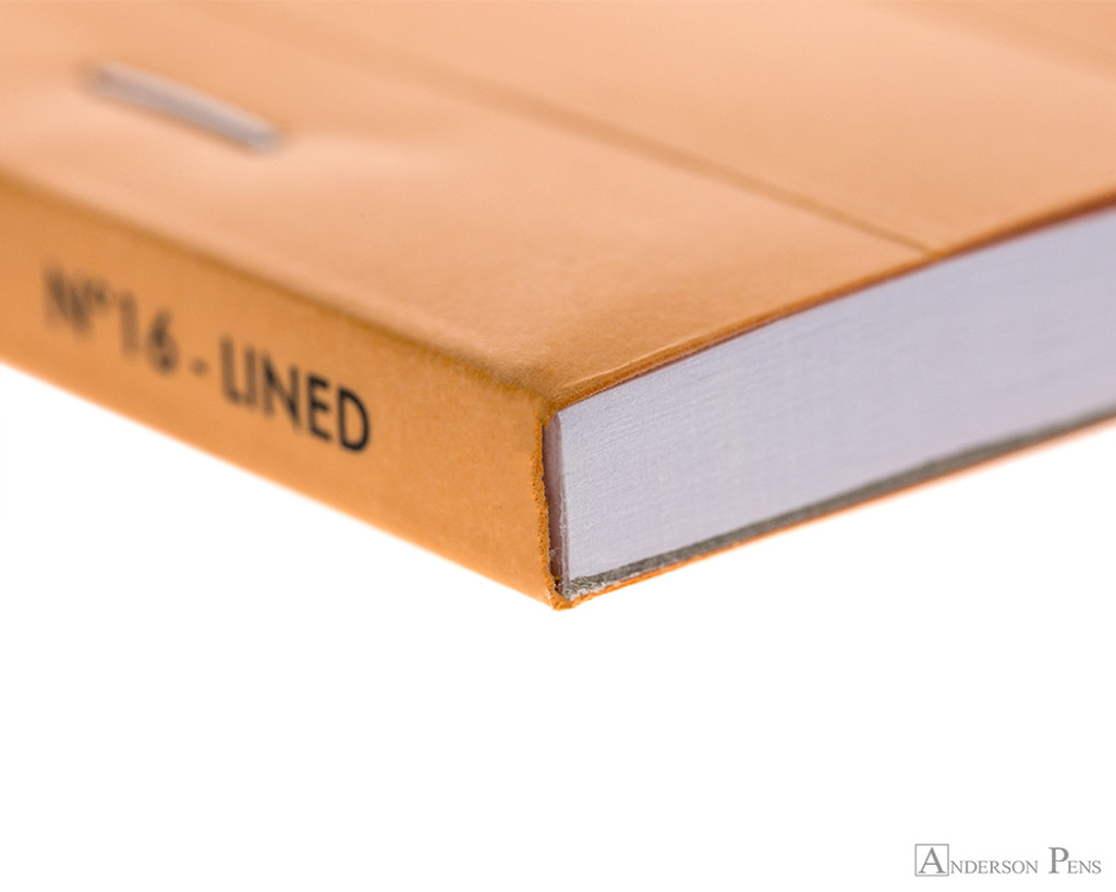 Rhodia No. 16 Staplebound Notepad - A5, Lined - Orange binding closeup