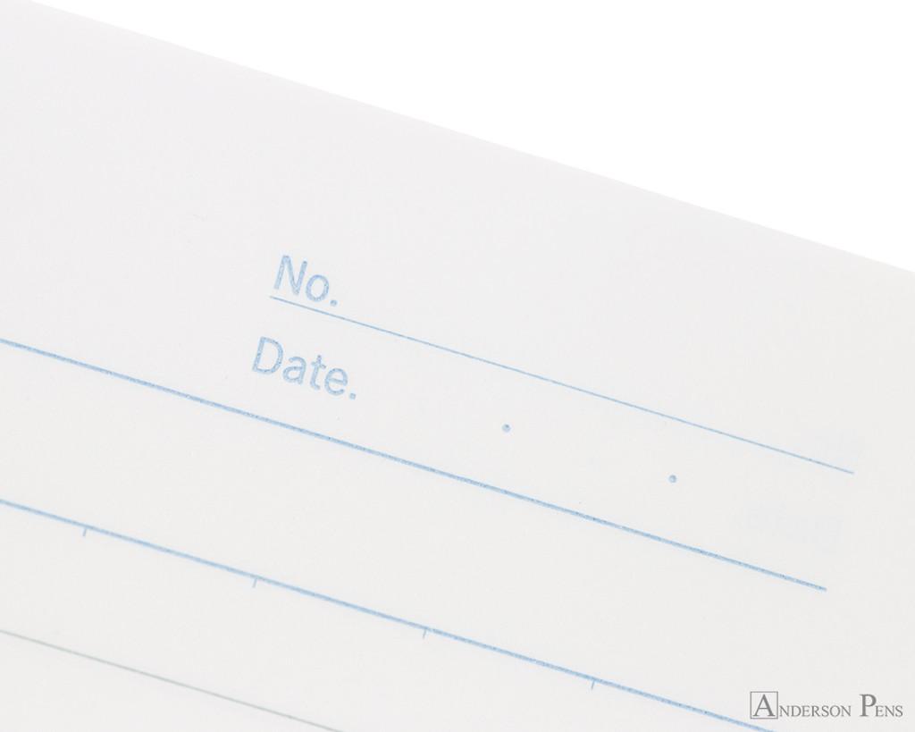 APICA CD15 Notebook - B5, Lined - Light Blue date detail