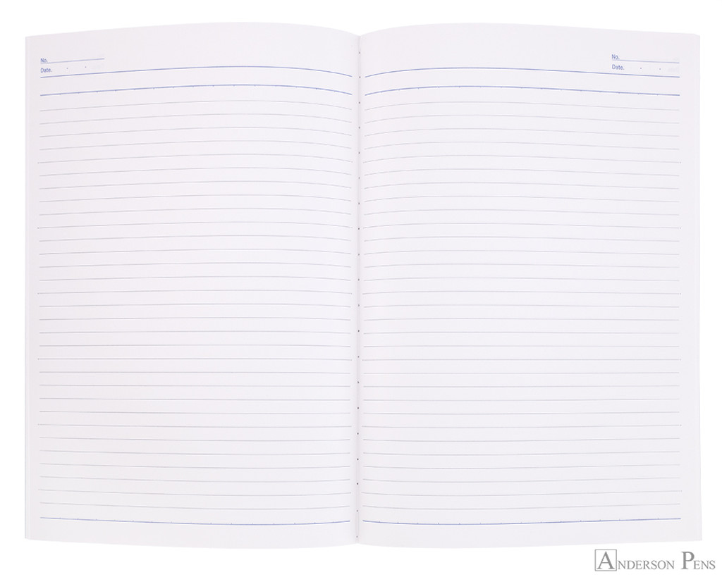 APICA CD15 Notebook - B5, Lined - Light Blue open