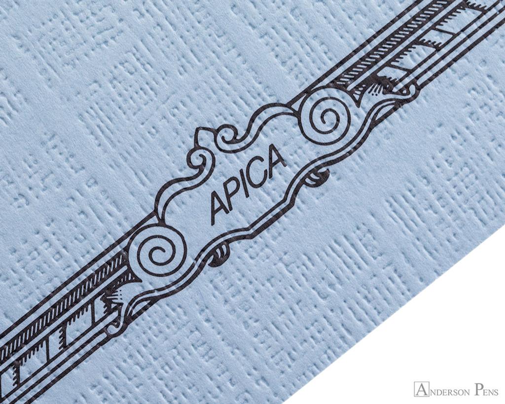 APICA CD15 Notebook - B5, Lined - Light Blue scroll