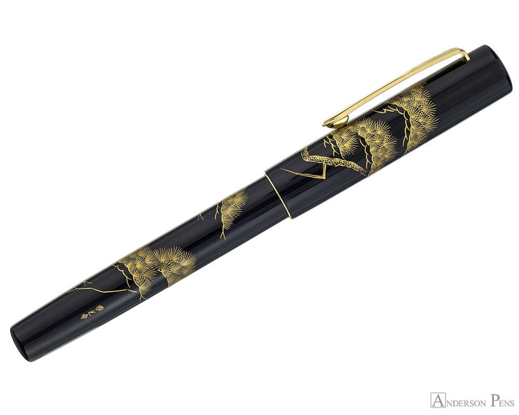 Namiki Chinkin Fountain Pen - Pine Tree - Profile