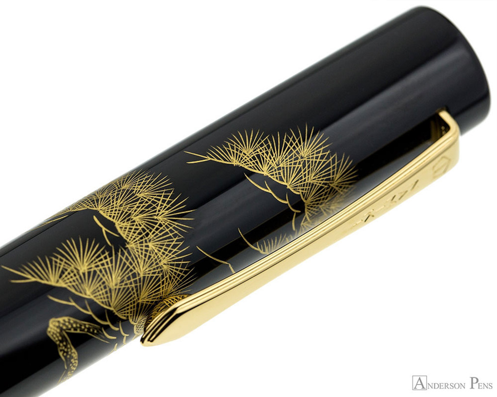 Namiki Chinkin Fountain Pen - Pine Tree - Pattern on Cap