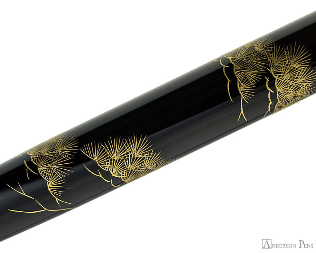 Namiki Chinkin Fountain Pen - Pine Tree - Pattern on Barrel