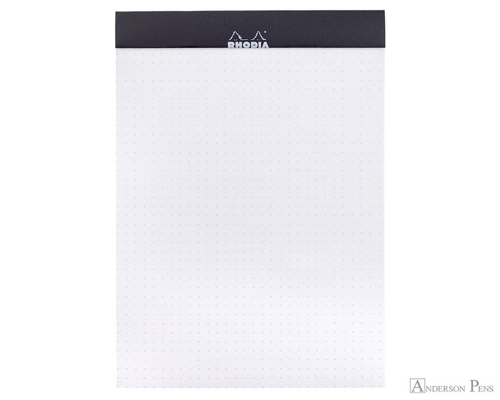 Rhodia No. 16 Staplebound Notepad - A5, Dot Grid - Black open