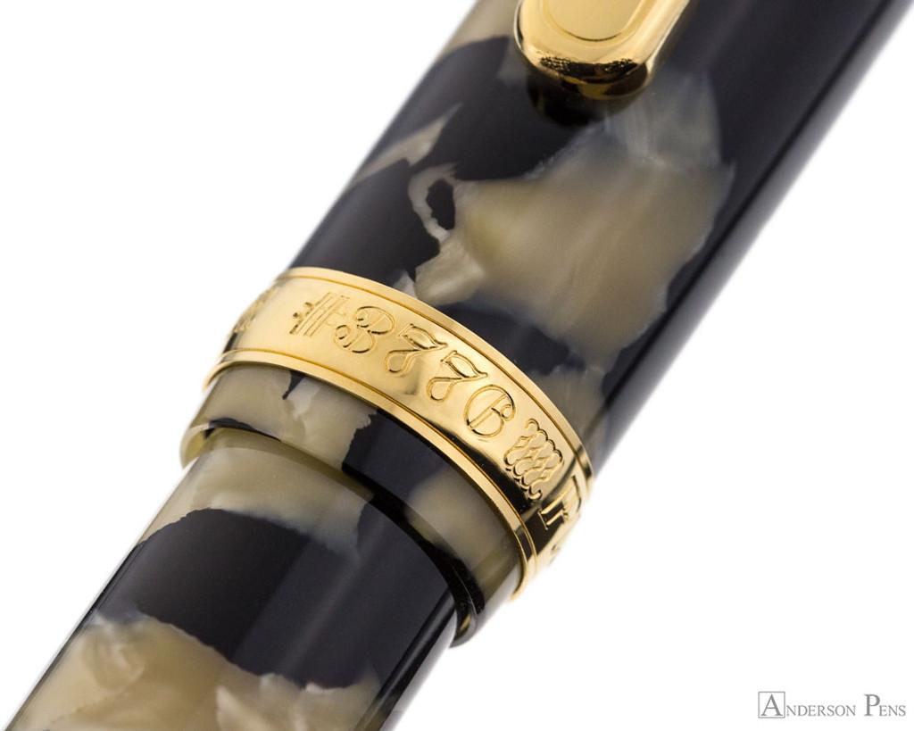 Platinum 3776 Celluloid Fountain Pen - Calico - Cap Band