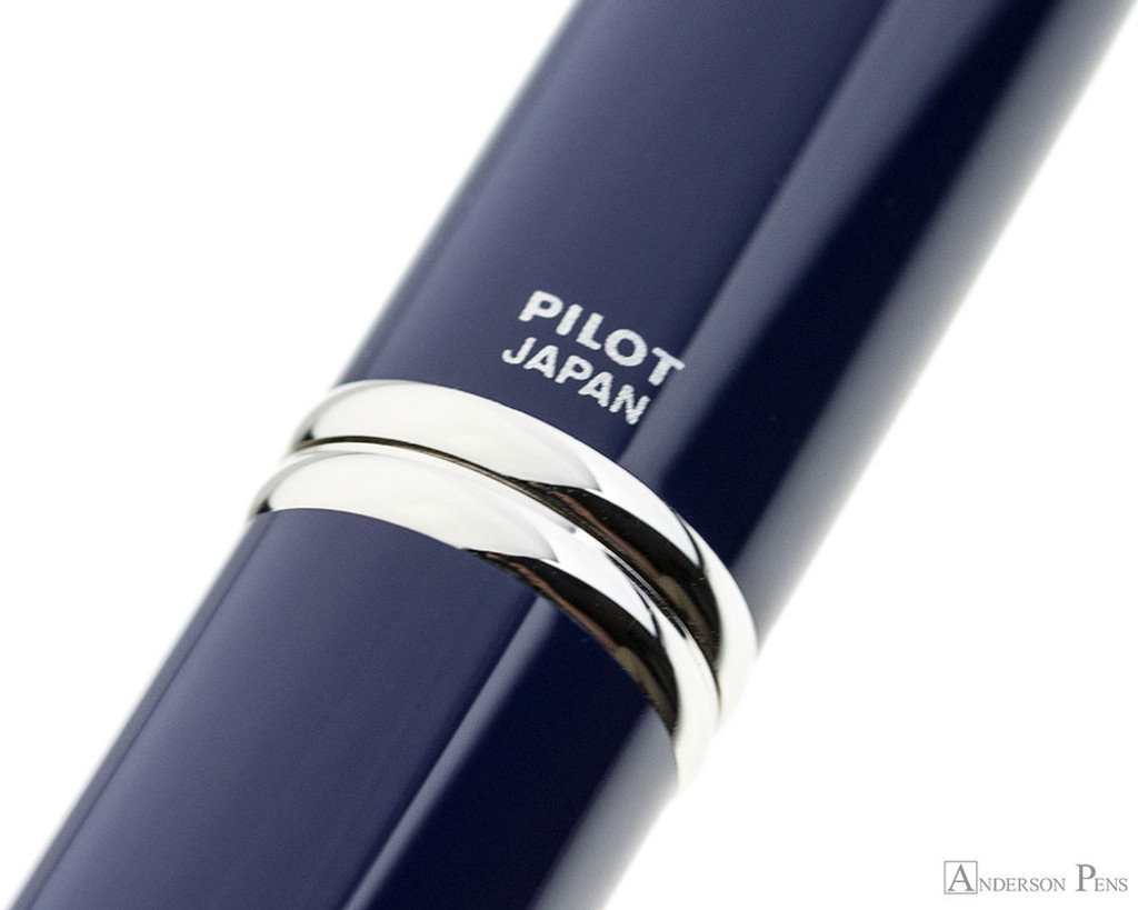 Pilot Vanishing Point Fountain Pen - Blue with Rhodium Trim