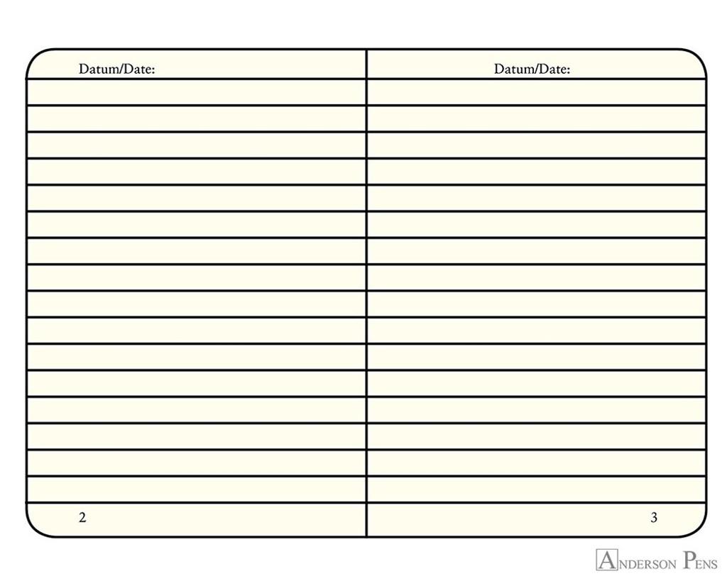 Leuchtturm1917 Notebook - A6, Lined - Azure open