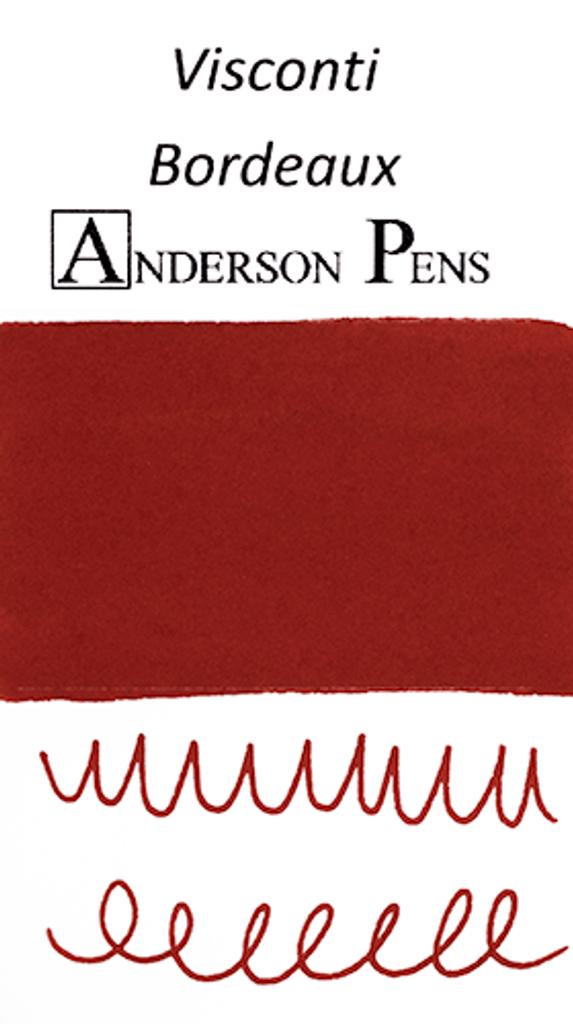 Visconti Bordeaux Ink Cartridges (7 Pack) color swab