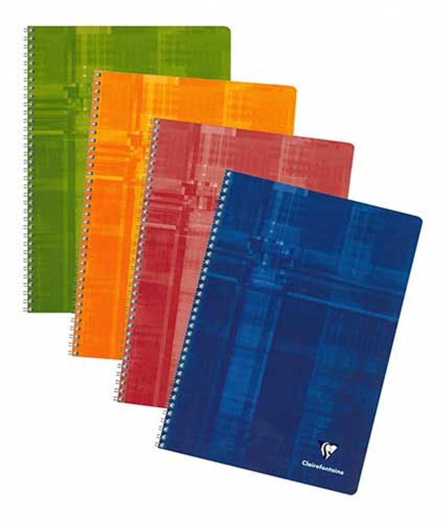 Clairefontaine Classic Wirebound Notepad - A4, French-Ruled - Assorted