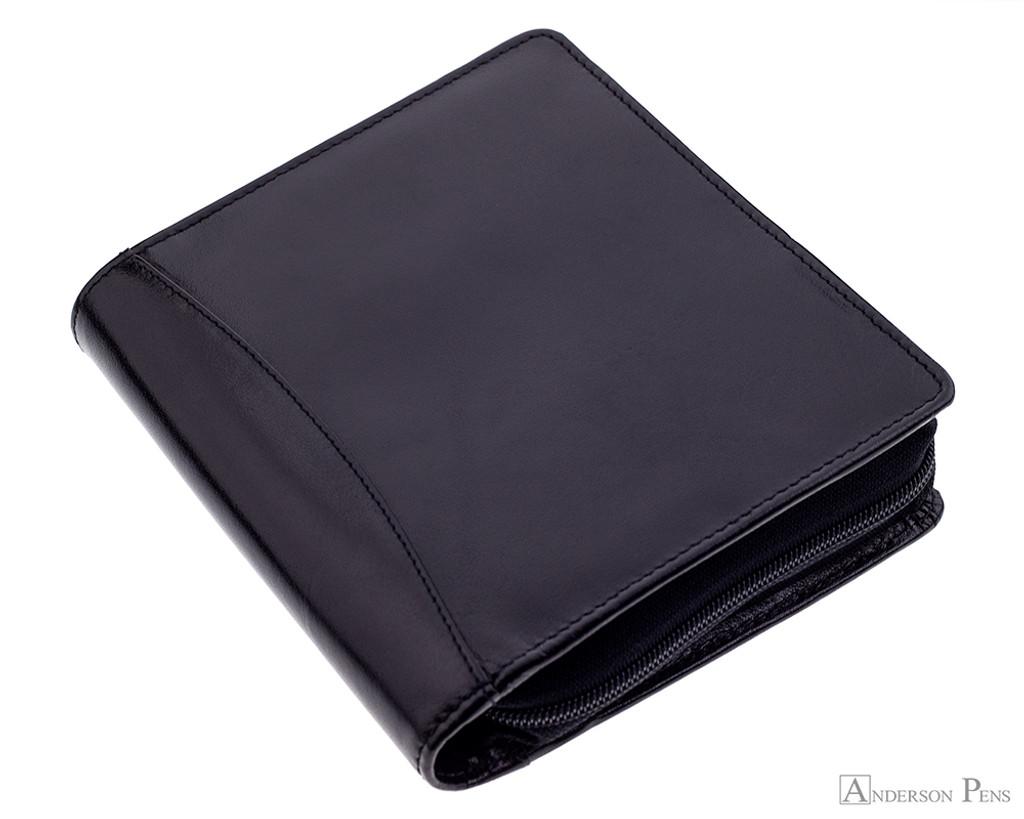 Girologio 12 Pen Case - Black Leather