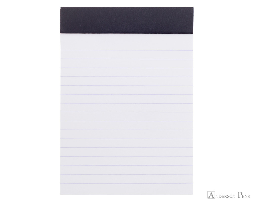Rhodia No. 13 Staplebound Notepad - A6, Lined - Black open
